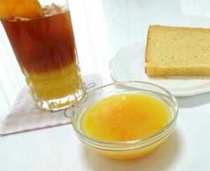 オレンジのエンゼルケーキ&オレンジゼリー