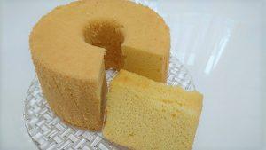 茨城県産米粉で作った米粉シフォンケーキ