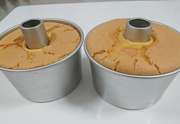 米粉のシフォンケーキ試作&食べ比べ
