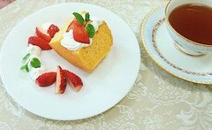 米粉のシフォンケーキでティータイム♪