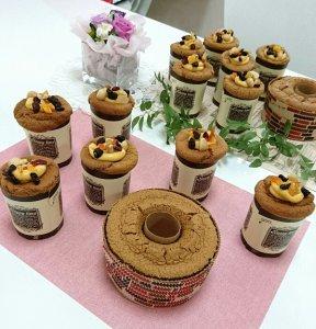 米粉のコーヒーカップシフォン